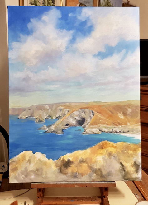 2nd painting day St Agnes cliff path
