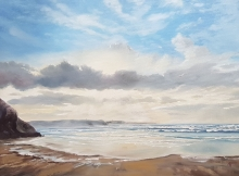 Cornish Beach Scene